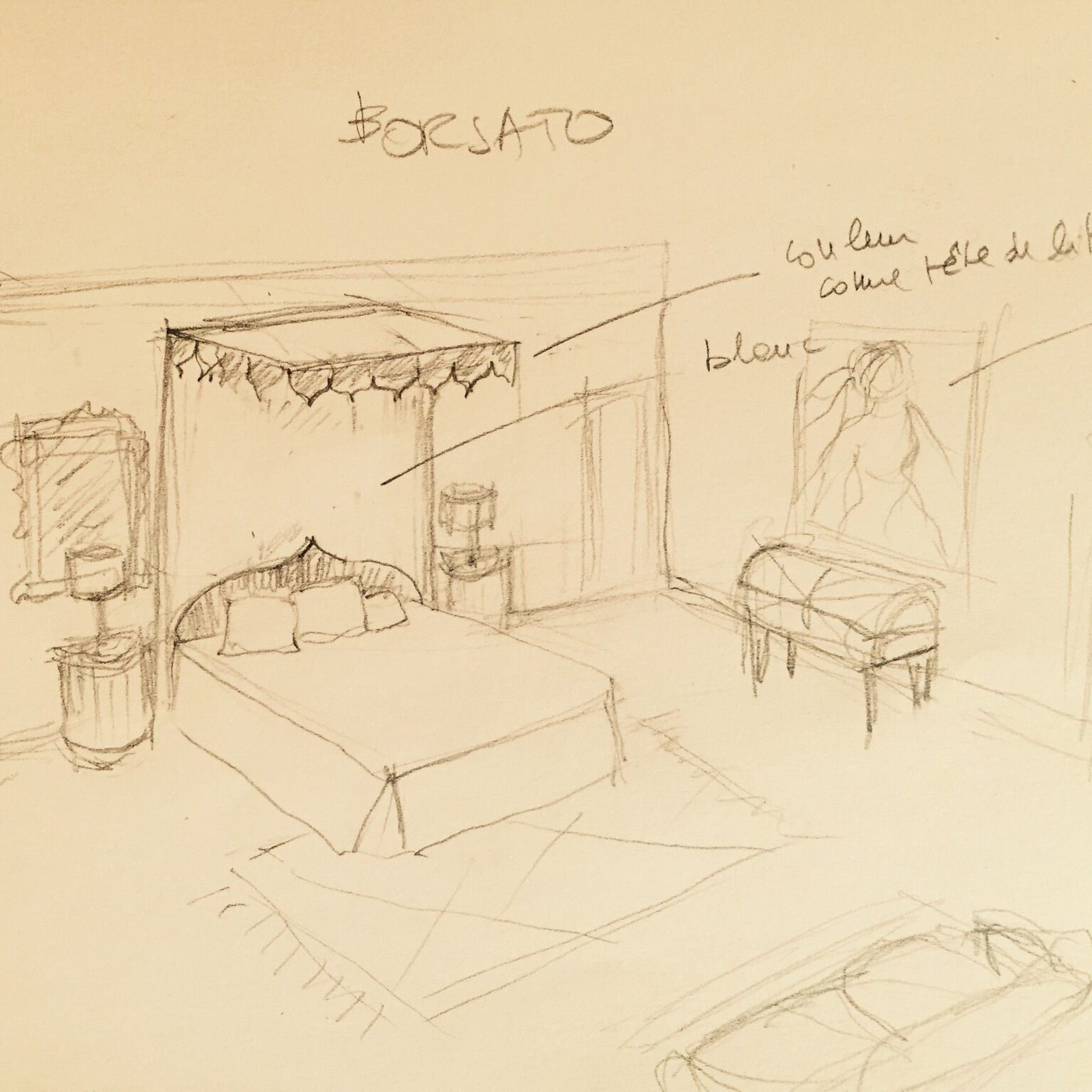 Anna Guarini's design for the master bedroom